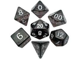 Mini 10mm Polyhedral Dice Set - Ethereal Black (7 dice)