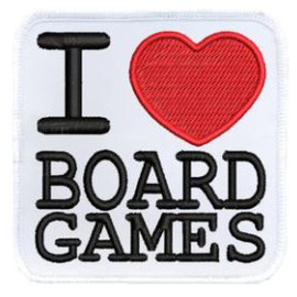 Iron-on Patch: I Love Board Games