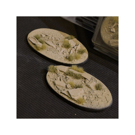 Bases (Pre-made): Arid Steppe Oval 90mm (x2)