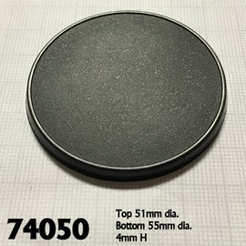 Bases:  55mm: Round with Lip (10 count) (74050)