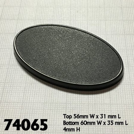 Bases:  60x35mm: Oval with Lip (10 count) (74065)