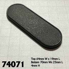 Bases:  70x25mm: Oval with Lip (10 count) (74071)