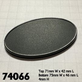 Bases:  75x46mm: Oval with Lip (10 count) (74066)