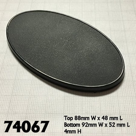 Bases: 90x52mm: Oval with Lip (10 count) (74067)