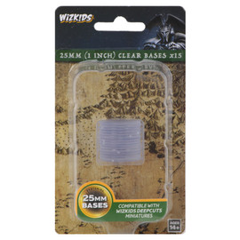 WizKids Deep Cuts: 25mm Round Bases: Clear (15 count)