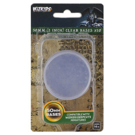 WizKids Deep Cuts: Clear 50mm Round Bases (10 count)