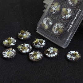 Gamers Grass: Battle Ready Bases: Winter 32mm (x8)