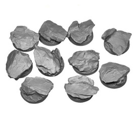 Resin Bases: Rocky Outcrop: Round: 25mm (10 bases)