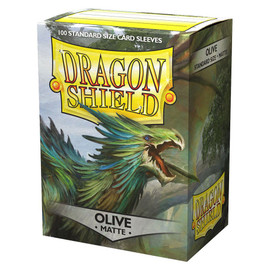 Sleeves: Dragon Shield: Matte: Olive (100 sleeves)
