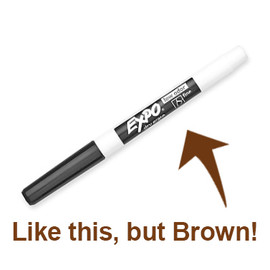 Expo Dry Erase Marker - Brown