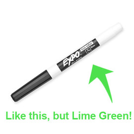 Expo Dry Erase Marker - Lime Green