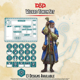 Dungeons and Dragons: Wizard Token Set