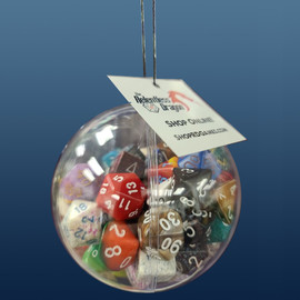 Dice Bauble Ornament (75 random dice)