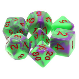 Polyhedral Dice Set: Jokester with Red Paint(7 Dice)