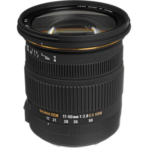 Sigma 17-50mm f/2.8 EX DC OS HSM Auto Focus Wide Angle Zoom Lens for Nikon Digital SLR Cameras