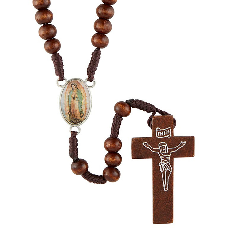 Our Lady of Guadalupe Wood Rosary