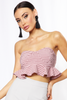Pink Gingham Frill Bandeau