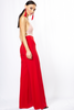 Red High Waist Wide Leg Trouser