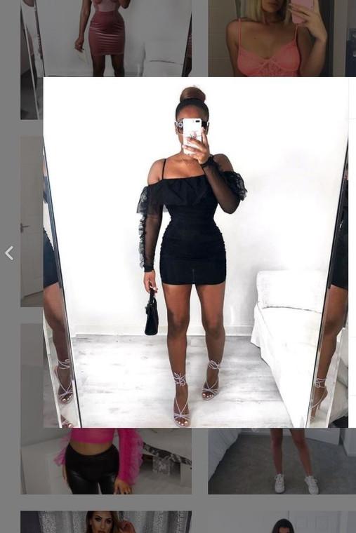 Black Organza Mini Dress