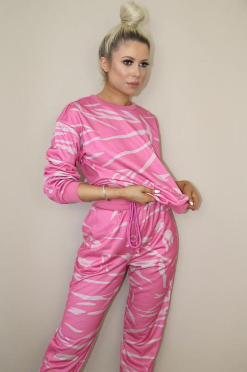 Pink-Blush Top and Bottom Loungewear Set