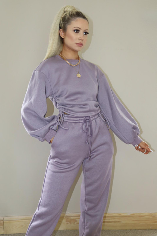 (TROUSER ONLY) Mauve Drawstring Loungewear Trouser