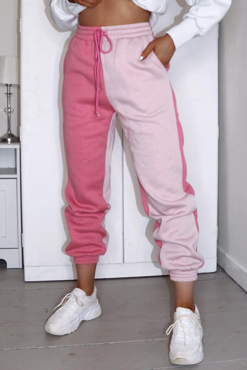 Pink/Blush Colourblock Loungewear Trouser