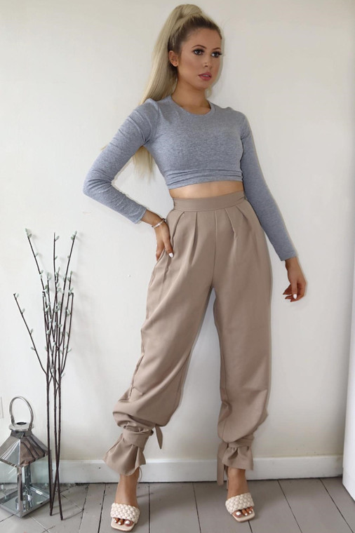 Stone Tie Ankle Trouser