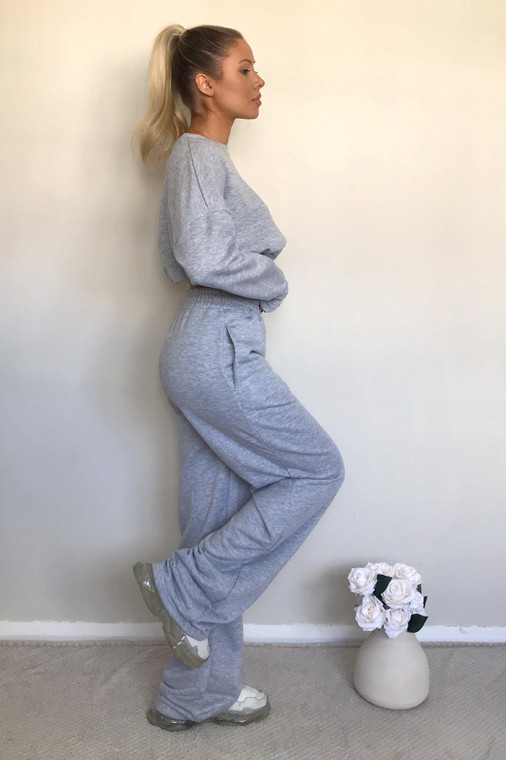 Grey Straight Leg Sweat Trousers