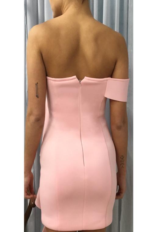Light Pink LA Scuba Frill Mini Dress