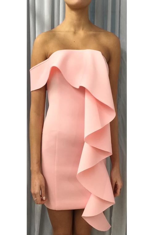 Light Pink LA Scuba Frill Mini Dress (Pack B)