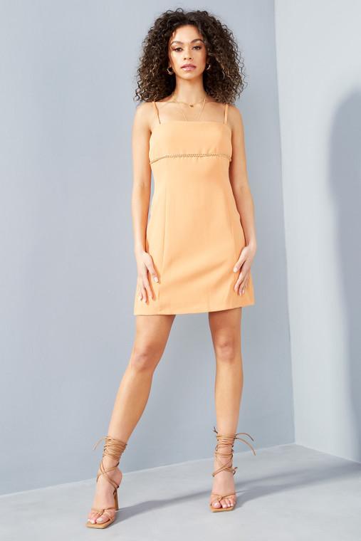 Apricot Chain Mini Dress