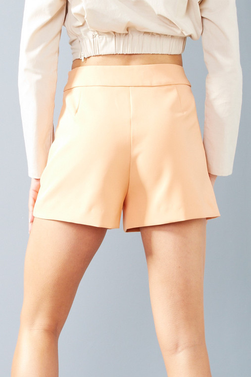 Apricot Tailored Shorts With Pockets
