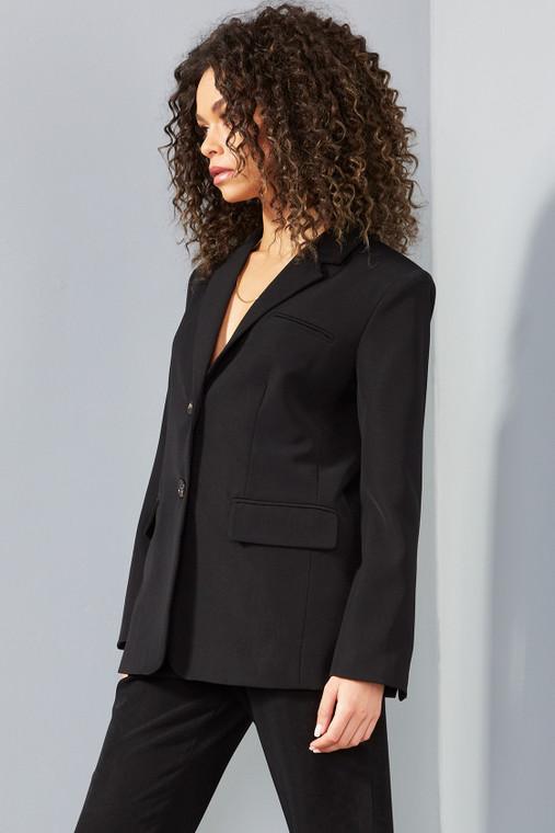 Black Premium Fitted Blazer