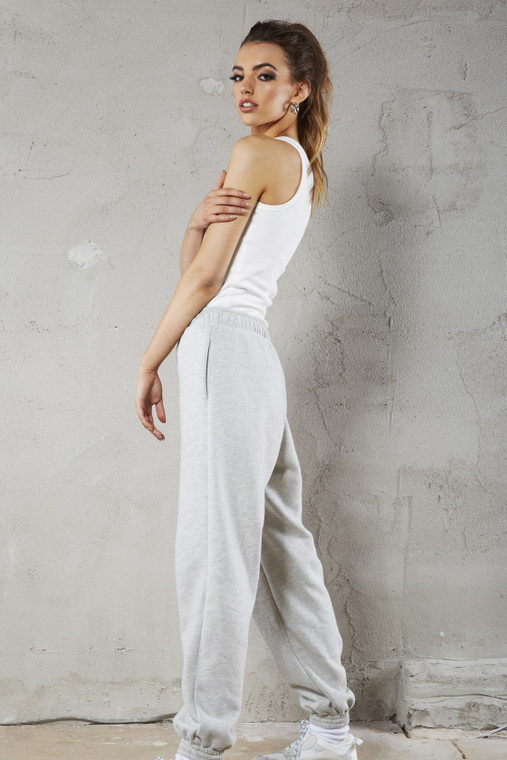 Marshmallow White Ribbed Vest Top