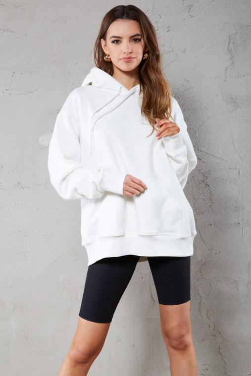 Marshmallow White Premium Printed Hoodie