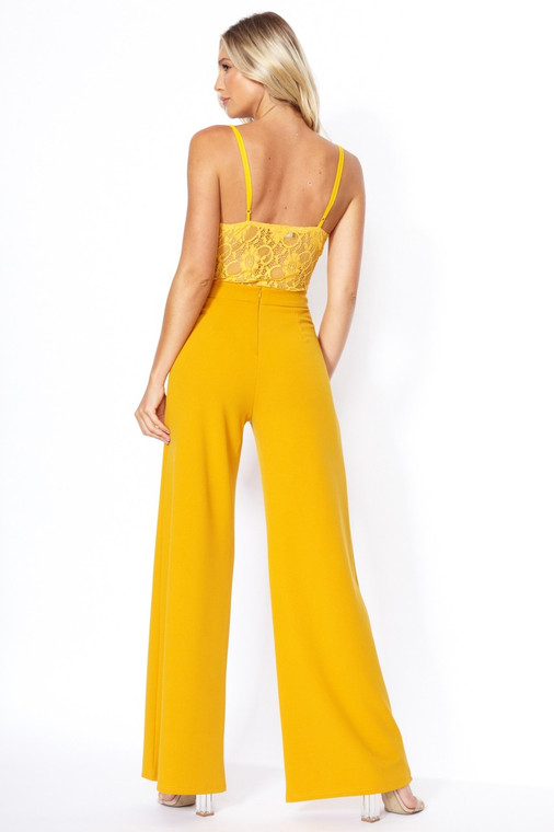 Mustard High Waist Wide Leg Trouser