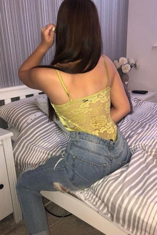 Lime Satin & Lace Bodysuit
