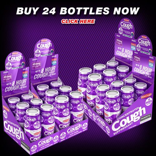 RoboCough grape dxm dextromethorphan cough delsym robitussin