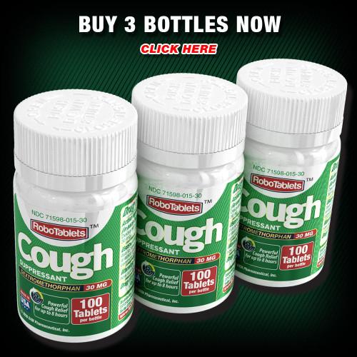 RoboTablets dxm dextromethorphan cough coughgel robitussin robafen assured valuemeds