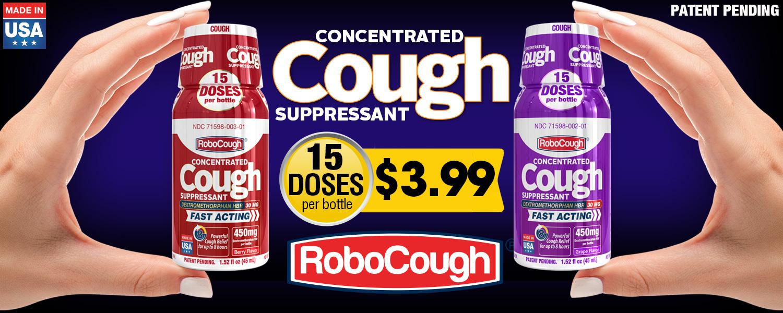 robocough cough flu dxm dextromethorphan