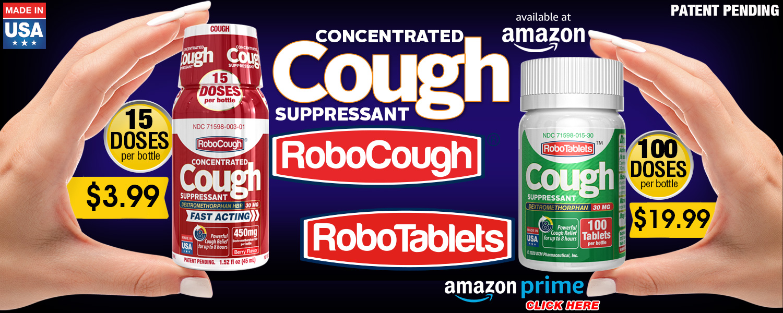 robocough robotablets cough flu dxm dextromethorphan delsym robitussin