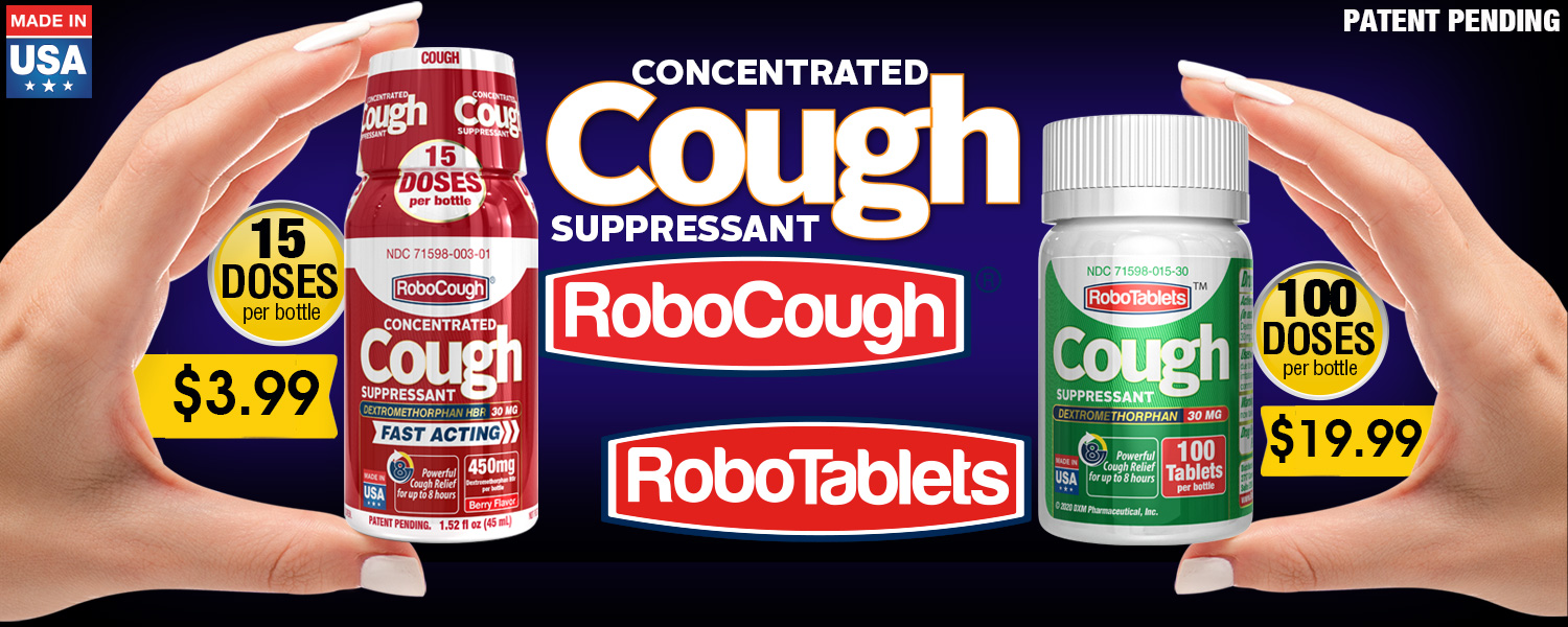 robocough cough flu dxm dextromethorphan