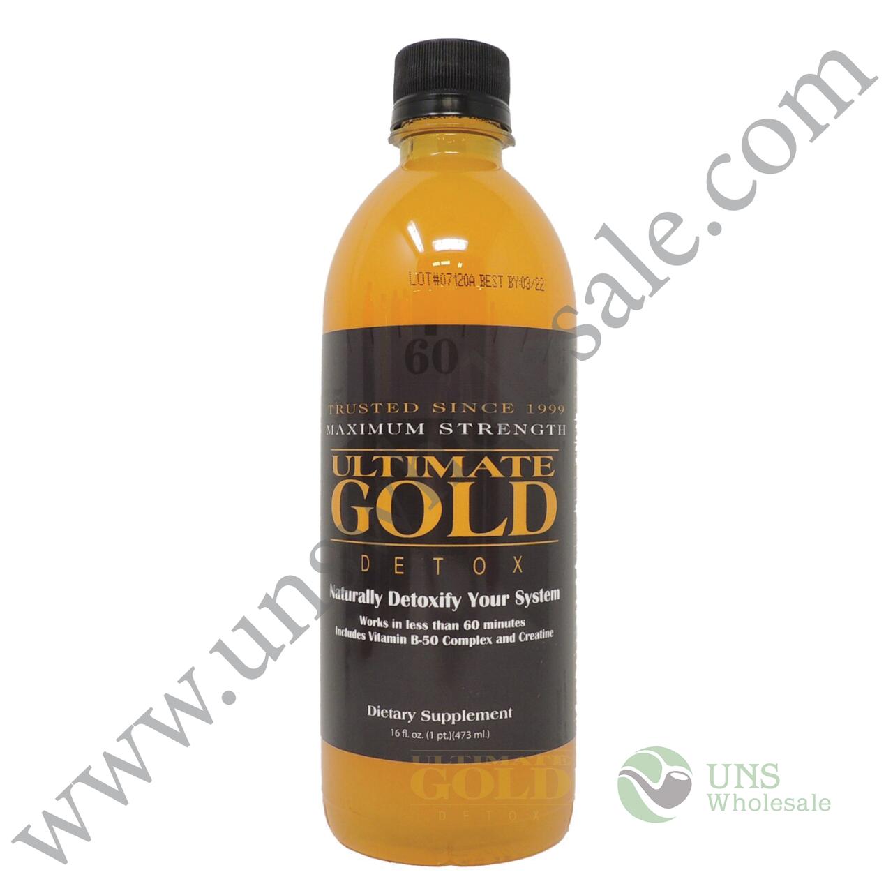 Ultimate Gold Detox (16oz, 20oz) UNS Wholesale Smoke Shop Head Shop Novelty Supplies