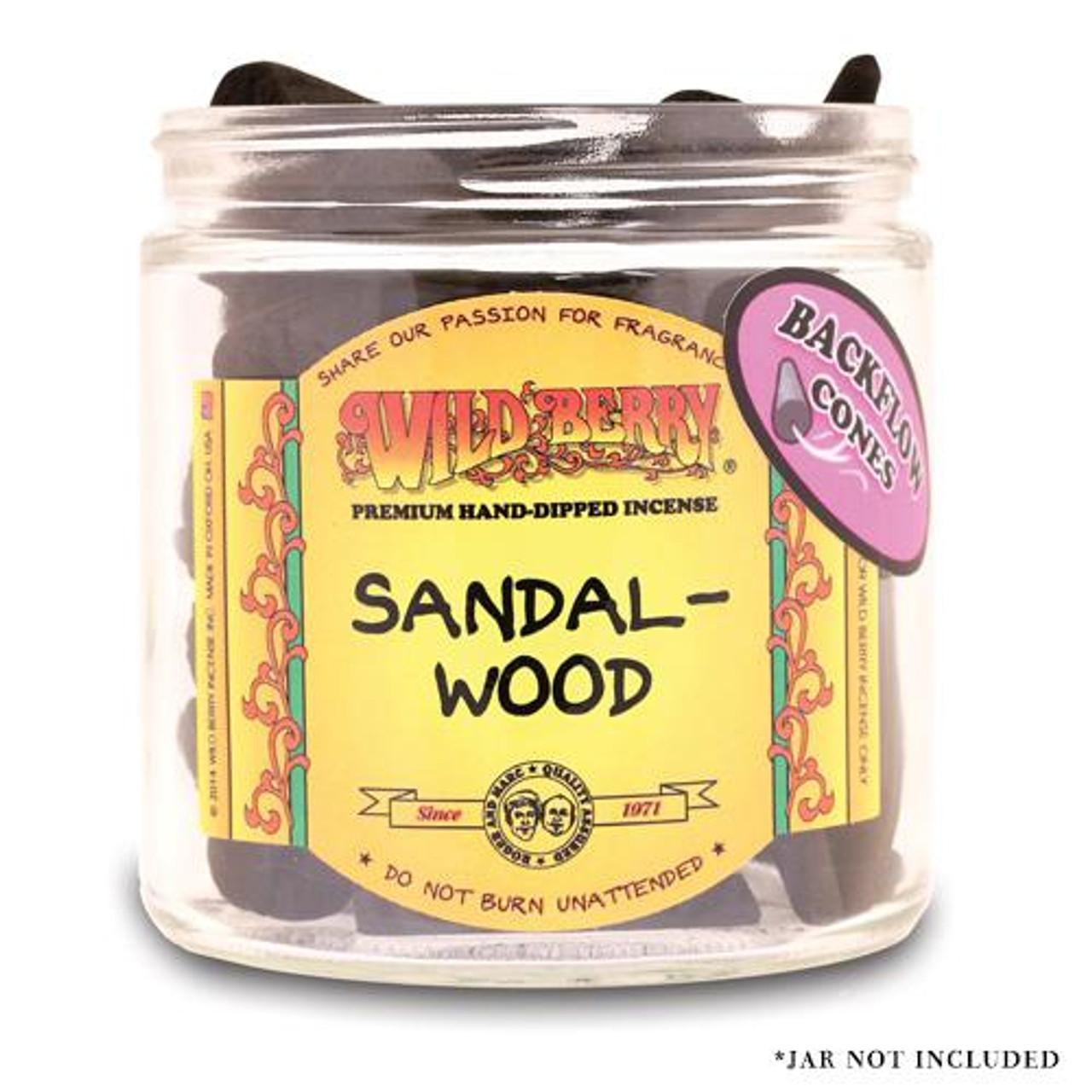 Wildberry Backflow Cones - Sandalwood