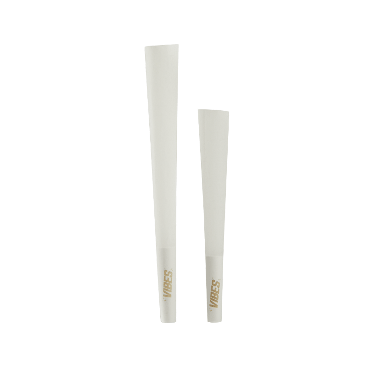 Vibes Hemp Cones Display - King Size.  Size comparison between the king size and the regular.