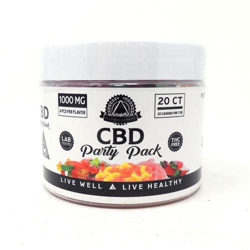 Illuminati CBD Gummy's 1000MG Party Pack UNS Wholesale Smoke Shop Head Shop Novelty Supplies