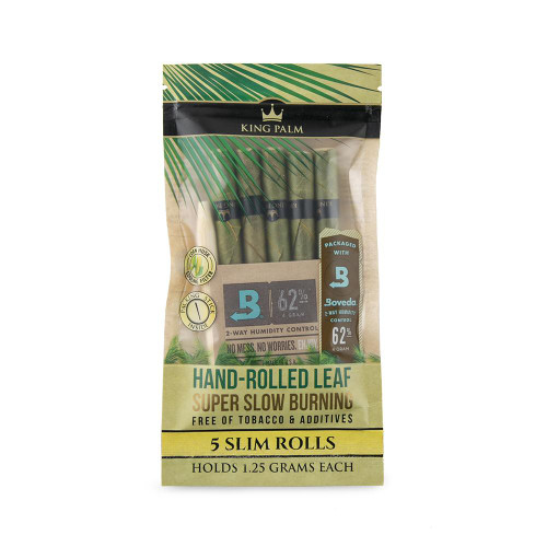King Palm Slim 5pk w/ Boveda - Display of 15