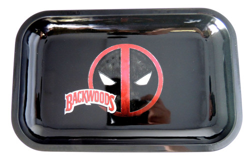 Backwoods Rolling Tray - Deadpool - S/M Backwoods Distributor Backwoods Rolling Tray Distributor UNS Wholesale Smoke Shop Distributor Head Shop Novelty Supplies