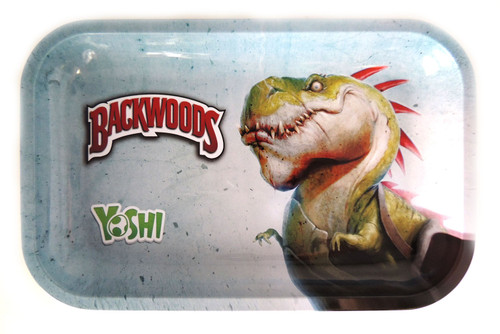 Backwoods Rolling Tray - Yoshi Dinosaur - S/M Backwoods Distributor Backwoods Rolling Tray Distributor UNS Wholesale Smoke Shop Distributor Head Shop Novelty Supplies