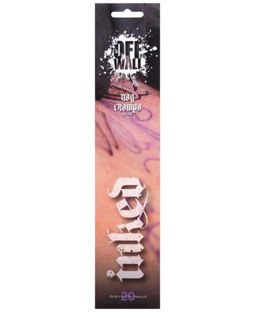 Off The Wall Inked Stick 4pk - Nag Champa
